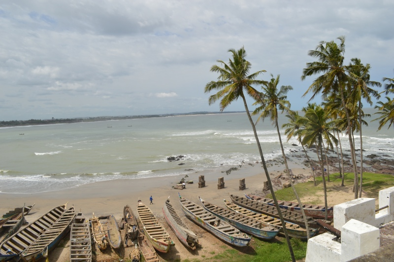 ghana view from slave castle